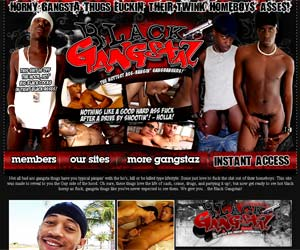 Welcome to Black Gangstaz - horny gangsta thugs fuckin their twink homeboys asses!